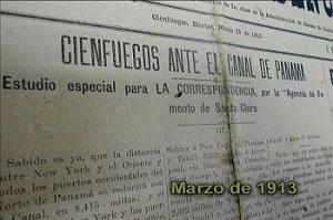 Las expectativas que generó en Cienfuegos la inminente apertura del Canal de Panamá tuvieron expresión en la prensa local de la época.